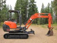 2004 kubota mini excavator KX91-3.It has 2400 hrs.Brand