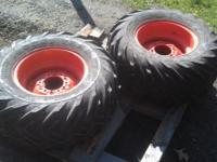 (2)NEW Kubota tires and wheels. Size 30 X 15.50 15 NHS.