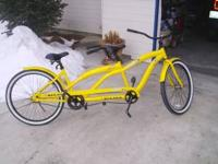 Enjoy a comfortable ride in this two seater bike. This
