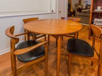 Mid-century KURT OSTERVIG table with leaf and 4 chairs.