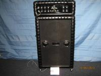 Cool 1969 Kustom K200B-2 matching head and cab in black
