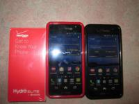 2 Kyocera smartphones. one red and one black. Purchase