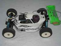 Kyosho Inferno with Ofna 26 motor. Ofna rolling chasie