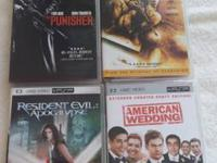 For Sale Four (4) PSP UMD Video Movies American