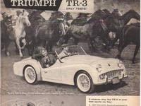 VINTAGE 1962 TRIUMPH TR-4 ADVERTISEMENT published in