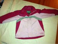 Girls kids size 5 - 6. Pink, red and gray winter coat