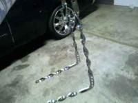 LOWRIDER COLLECTION TWISTED BENT SISSYBAR AND
