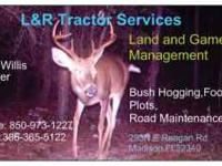 all you tractor work need food plots bush hogging