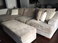 L-Shaped Couch with Ottoman purchased 2 years ago for