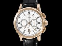 Leroy 18K Rose Gold Marine Automatic Chronograph. Date.