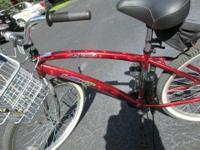 Gents La Jolla Next bike in Red Aluminum, Single-speed