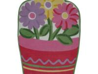 Happy flowers in a pot will make her room blooms. High