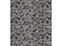 Pebble stones. They look so real it is as if the rug