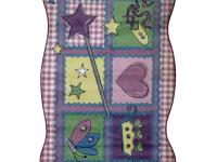 This is a charming patchwork design with a fairytale