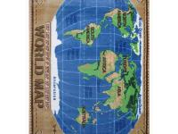It is a globe on the rug.An educational rug with