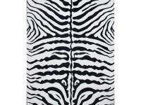 Everyone will be delighted by this zebra print rug