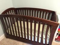 La Spezia Forever Crib in Dark Vintage Cherry color