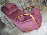 For sale is this rocker recliner that also swivels 360