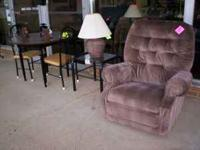 Selling is a La-Z-Boy upholstered rocker recliner