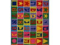 This brightly colored rug is fun and educational making