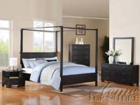 La Star Black Comp 5 Bedroom Set This Modern Sexy