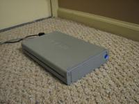 I have a Lacie 500 Gb outboard hard drive for sale. I