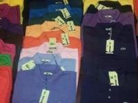 We got lacoste shirts any size you need anything send