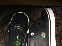 New Toddler Lacoste Leather Sneakers. Size 7 1/2. Only