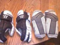 Up for sale is my sons lacrosse gloves/guards. Only