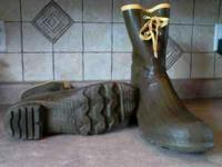 LaCrosse hunting boots, steel shank, worn twice,