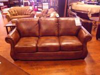 Lacrosse Apache Sedona sofa top grain leather. Lacrosse