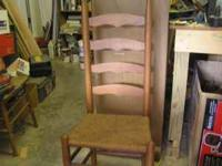 Selling 4 ladder back chairs in great condition with