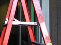 6 Foot Werner ladder with 12 foot reach. Model p7406.