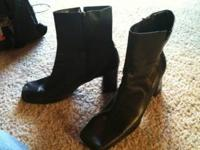 Black Boots size 8-9... Asking 10$ OBO.. CALL  or EMAIL
