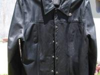 Very nice women's leather shirt - worn maybe 3 times
