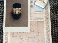 Ladies 14K Gold, 25 Diamond, Custom Wedding Set,
