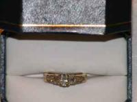 "Ladies 14kt yellow gold ""past, present, future"" style"