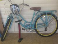 Blue bicycle, used twice so almost new bought for $150