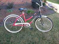 "Huffy 26"" ladies or girls cruiser. Needs new seat. Good"
