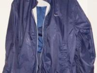 Nice ladies blue Nike sweat jacket/wind breaker, size