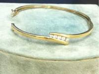 10kt yellow gold bracelet 9.2gr with four round