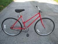 ladies single speed/coaster brake cruiser, red with