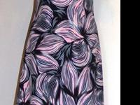 #6607Ladies Conservative A-Line Maxi DressPull on short