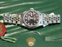 Ladies Datejust ROLEX  Stainless Steel  Black Diamond
