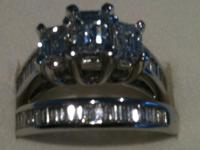Ladies diamond Engagement Ring set in 14K white gold.