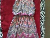 Multicolored dress(long in the back and short in the
