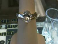 LADIES ENGAGEMENT RING 2.01 CTW OVAL CUT - I1 / G -