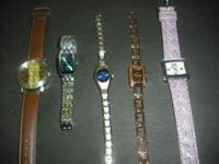 Pictured is a small selection of watches available.