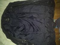 brand new ladies jacket size 3xl dark blue with fur