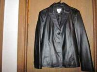 Ladies Leather Coat, size large. Excellent condition.